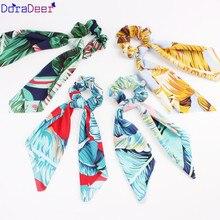 Bandanas de cabelo elástico meninas laços de cabelo acessórios para o cabelo doradeer elegante scrunchie bandana flor scrunchies