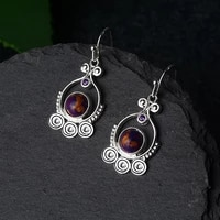 ethnic trendy jewelry for wome retro moonstone rotating drop earrings engagement wedding accessoires designer jewelry