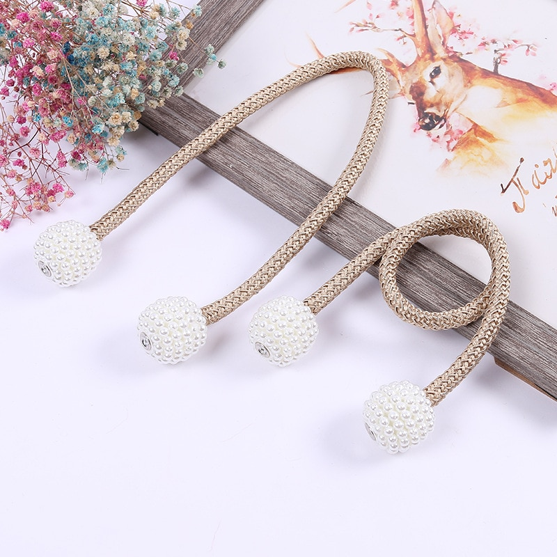 1x Pearl Magnetic Curtain Clip Curtain Frame Lace Buckle Hanging Ball Buckle Lace Curtain Accessories Home Decoration  - buy with discount