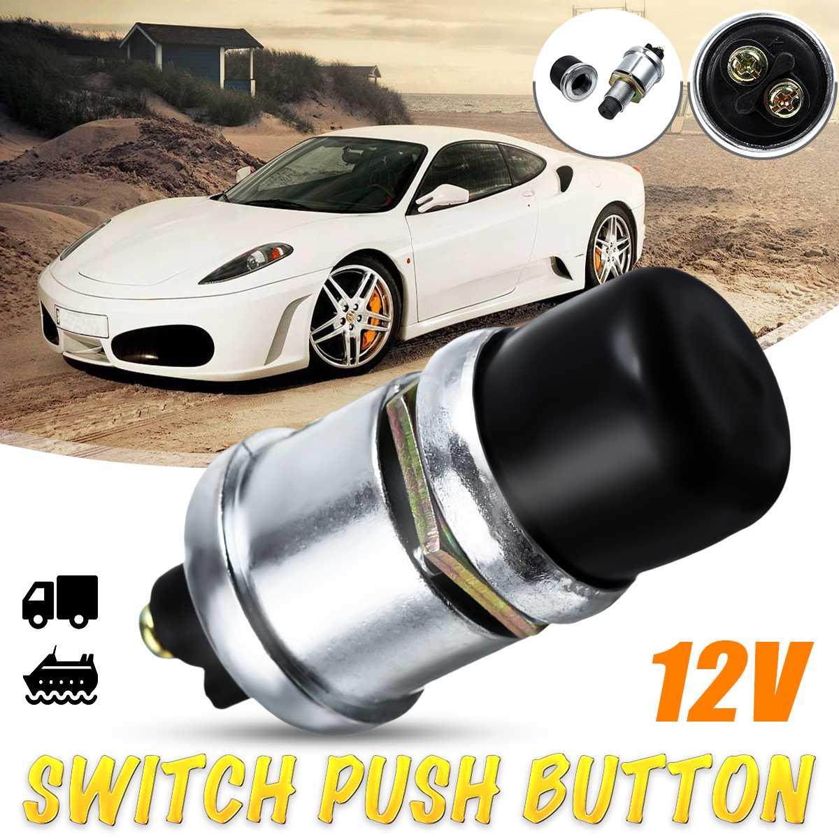 Универсальный 12 В 50А водонепроницаемый переключатель, кнопочный клаксон, пусковая кнопка старта, пусковой переключатель для автомобиля, лодки, трека, дизельный двигатель