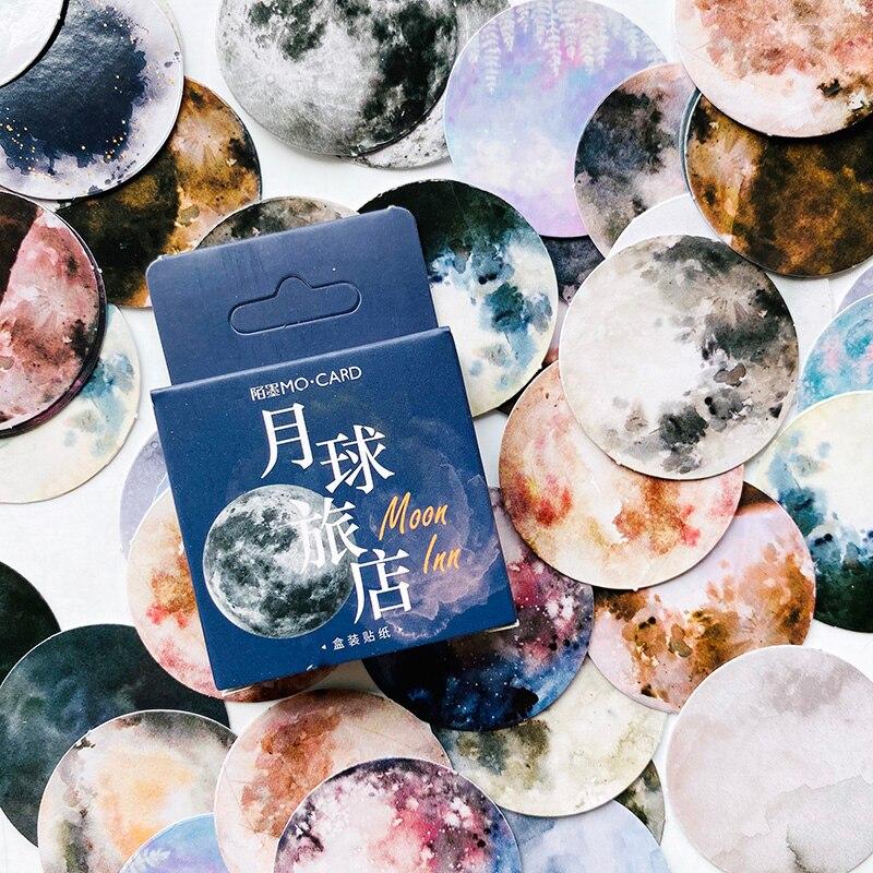 46 шт./кор. Фантастическая Луна планеты стикер DIY стикер наклейку этикетка