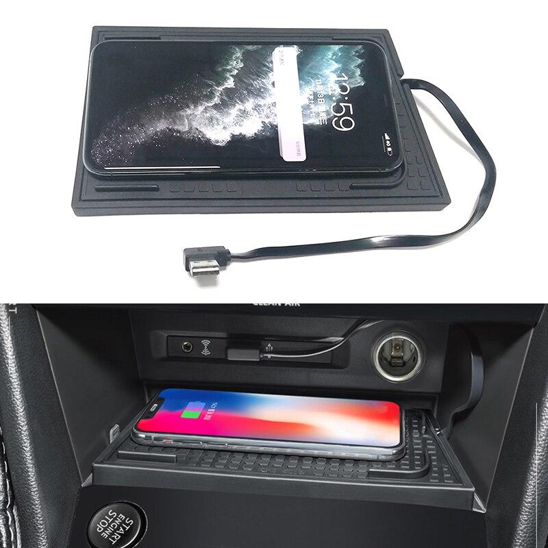 Cargador de teléfono inalámbrico QI para coche, accesorios de placa de carga para VW Tiguan MK2 Tiguan Allspace Tharu 2017 2018 2019