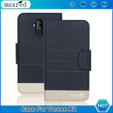 Luxury! Vernee X2 Case 5 Colors High Quality Flip Leather Card Slots Protective Case For Vernee X2 P