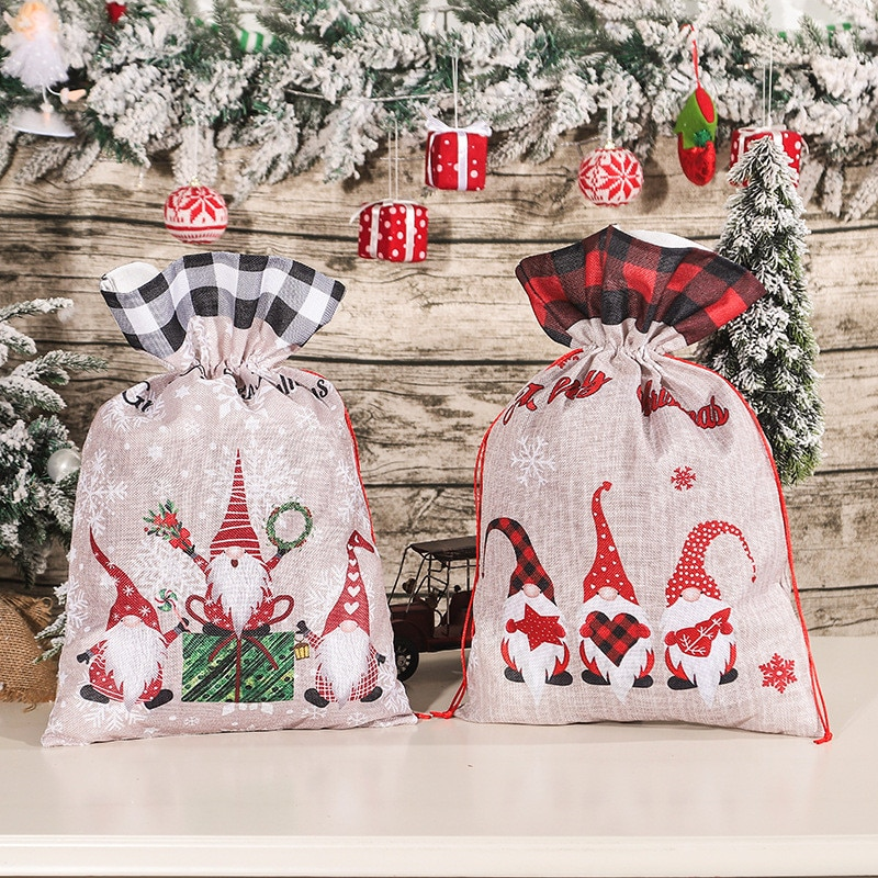 Christmas Ornaments Gnome Doll Xmas Gift Bag Merry Decorations for Home New Year Decoration Navidad Noel