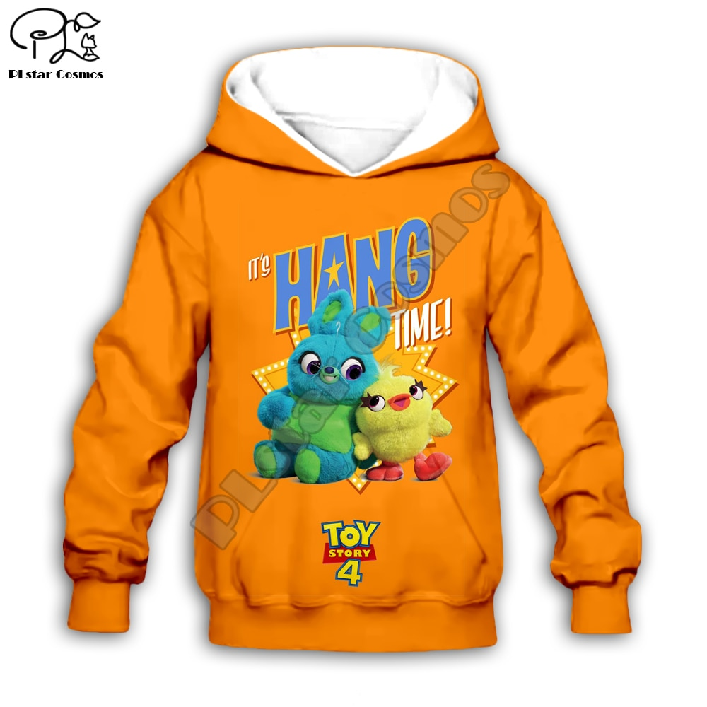 Niños de tela Forky Ducky Bunny Toys Story 4 pinrt 3d sudaderas con capucha/camisa Linda/sudadera de niño Sherif Woody dibujos animados Buzz Lightyear Pantalones