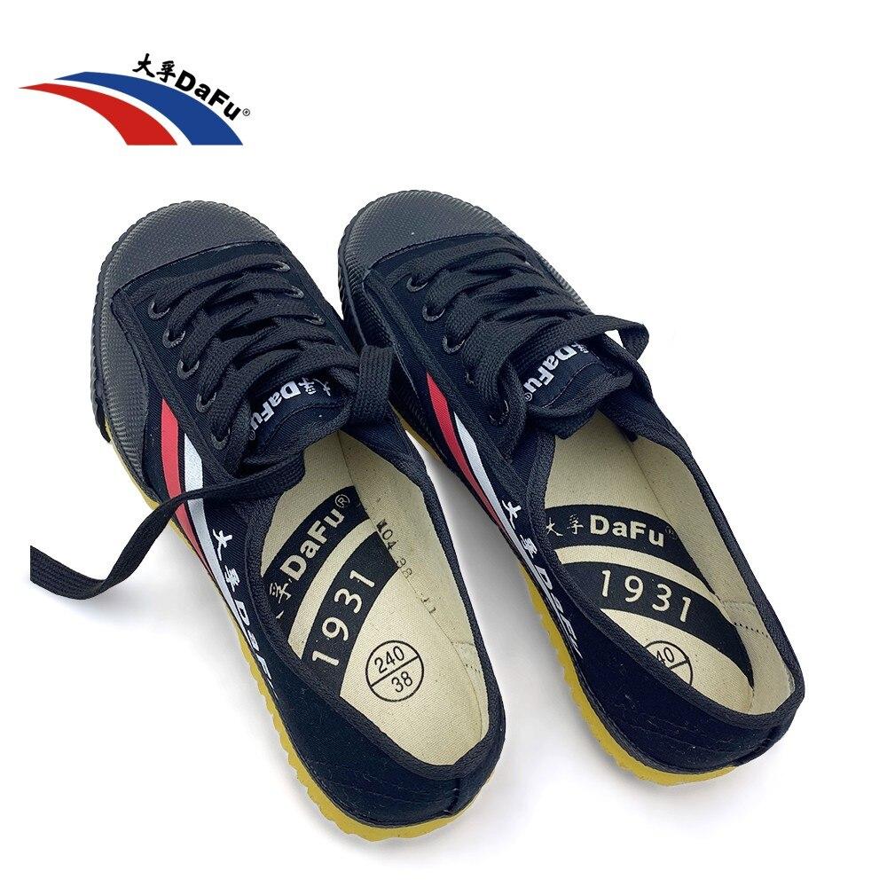 DaFu Kungfu-أحذية رياضية أصلية لفنون الدفاع عن النفس ، أحذية شاولين ، تايتشي ، تايكوندو ، وشو ، أحذية قماشية مريحة وناعمة للرجال والنساء