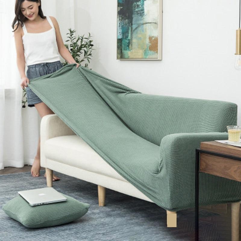 Funda Universal elástica de punto para sofá, sala de estar gruesas para fundas elásticas, funda para sillón, 1/2/3/4 plazas