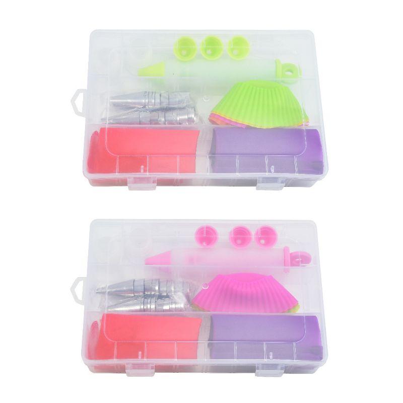 Kits de herramientas para decoración de tartas, bolígrafo + molde + bolso de TPU + conjunto convertidor de moldes para magdalenas 449C