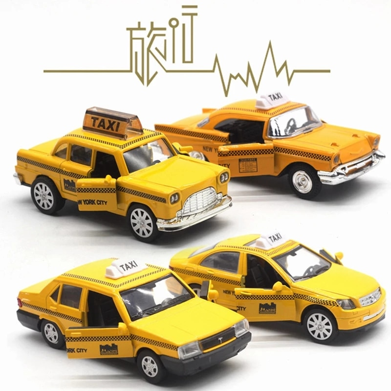 Lada samara miniature metal auto model 1:32 mini yellow ford Dodge vaz oyuncak model taxi car children boys classic toys gift