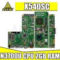 Akemy X540SC For Asus X540SC D540S X540S X540 Laotop Mainboard X540SC Motherboard W/ N3700U CPU 2GB RAM