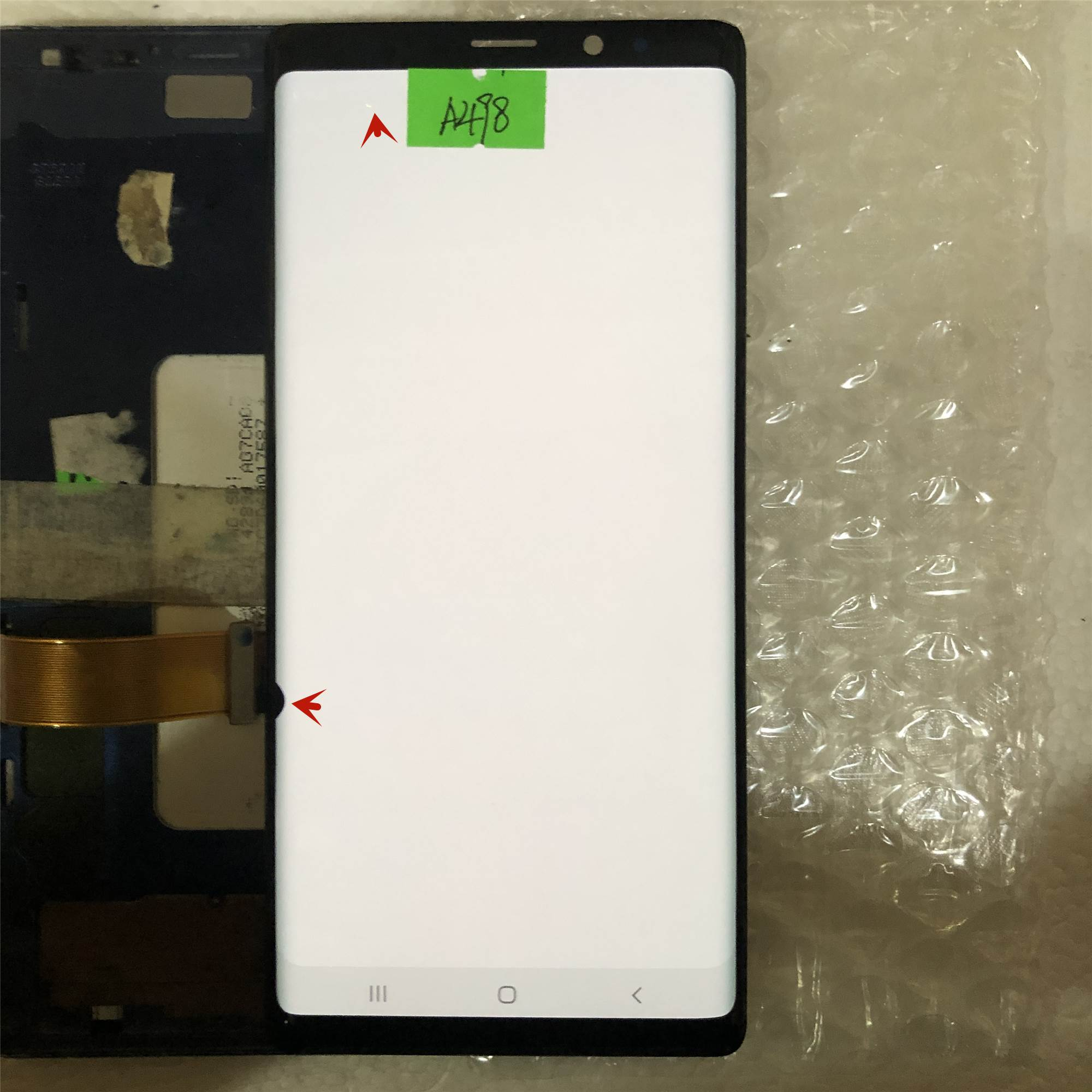 ORIGINAL AMOLED 6.4'' LCD with frame for SAMSUNG GALAXY Note 9 LCD Note9 Lcd Display N960D N960F LCD Touch Screen Defect screen enlarge