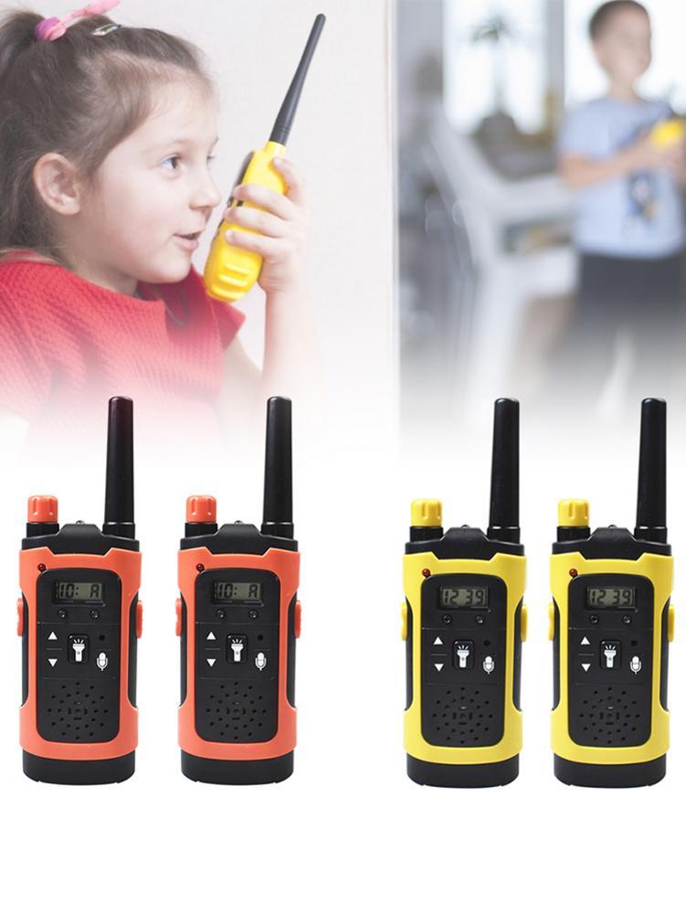 2pcs Intelligent Walkie Talkies With LCD Display Flashlight Clear Sound Waterproof Parent-child Interaction Kid Pretend Toy