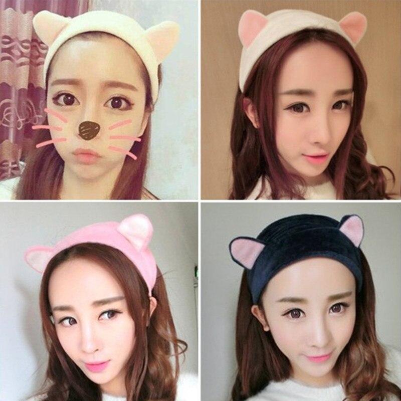 Женская повязка на голову с кошачьими ушками милые эластичные повязки для волос