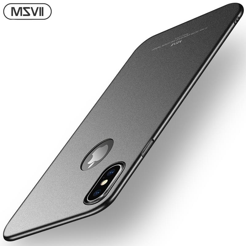 Funda de teléfono Msvii para iPhone X, carcasa ultrafina para iPhone Xs, carcasa trasera dura mate para iPhone XR