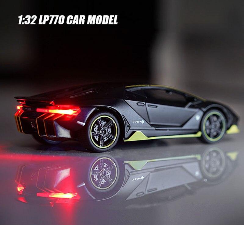 1:32 escala lamborghinis lp770 liga modelo de carro diecast brinquedo veículo alta simitation carro brinquedos para crianças presentes natal
