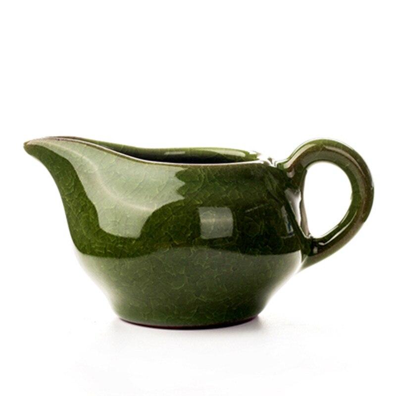Glace haut de gamme craquelée coupe équitable porcelaine glaçure Kungfu thé coloré mer vert bleu blanc céramique café diviseur de thé épaissi