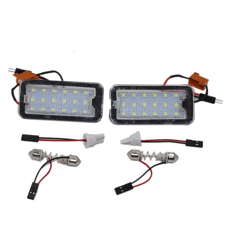 Para podświetlanie led do rejestracji lampa dla Fiat 500 500C Auto oświetlenie tablica rejestracyjna światło