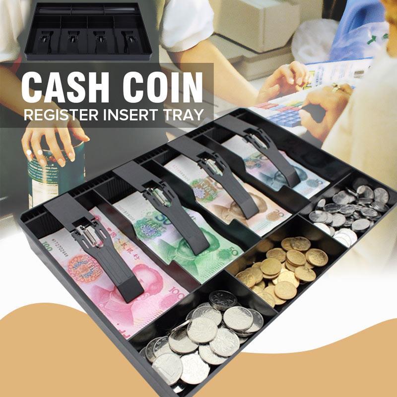 Caja de almacenamiento ABS para cajero, caja registradora para efectivo, caja registradora de 4 billetes, 3 monedas de seguridad para garaje, venta de bandejas con estilo