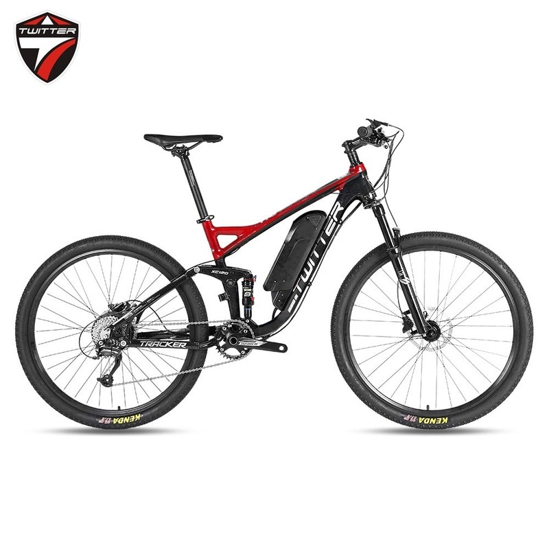 aluminum alloy soft tail full shock absorber electric booster mountain bike torque intelligent36Voil disc brake electric bicycle