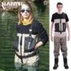 HANITE-Wader de pêche Wader de poitrine imperméable et respirant utile en crue par temps pluvieux pantalons d'agitation pour la chasse