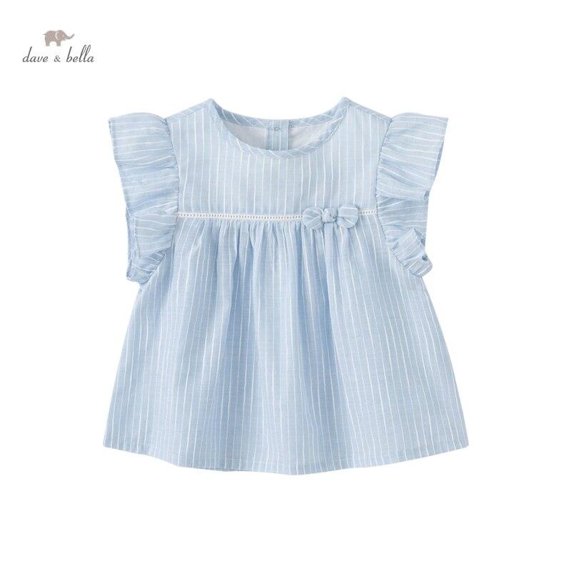 DBZ18164, летняя Модная рубашка в полоску с бантом для маленьких девочек, топы для малышей, детская одежда высокого качества|Блузки и рубашки| | АлиЭкспресс