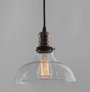 Nordic Pendant Lamp Vintage Retro Glass Lighting Fixture Luminaire Loft Industrial Suspension Hanging Dining Room Decor Light