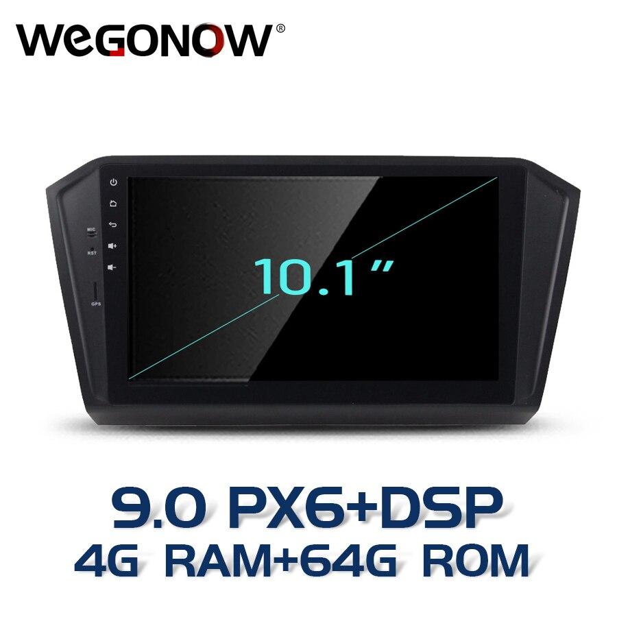 "PX6 DSP HD 10,1 ""HD Android 9,0 8 core 4GB RAM 64GB ROM reproductor de DVD del coche GPS RDS Radio wifi Bluetooth5.0 para VW PASSAT 2015, 2016"