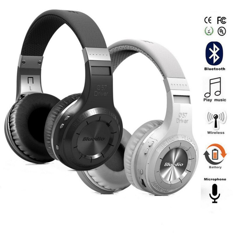 Bluedio Turbine Hurricane H Auriculares ltra-grandes controladores dinámicos Auriculares Audio compartir reducción de ruido Auriculares