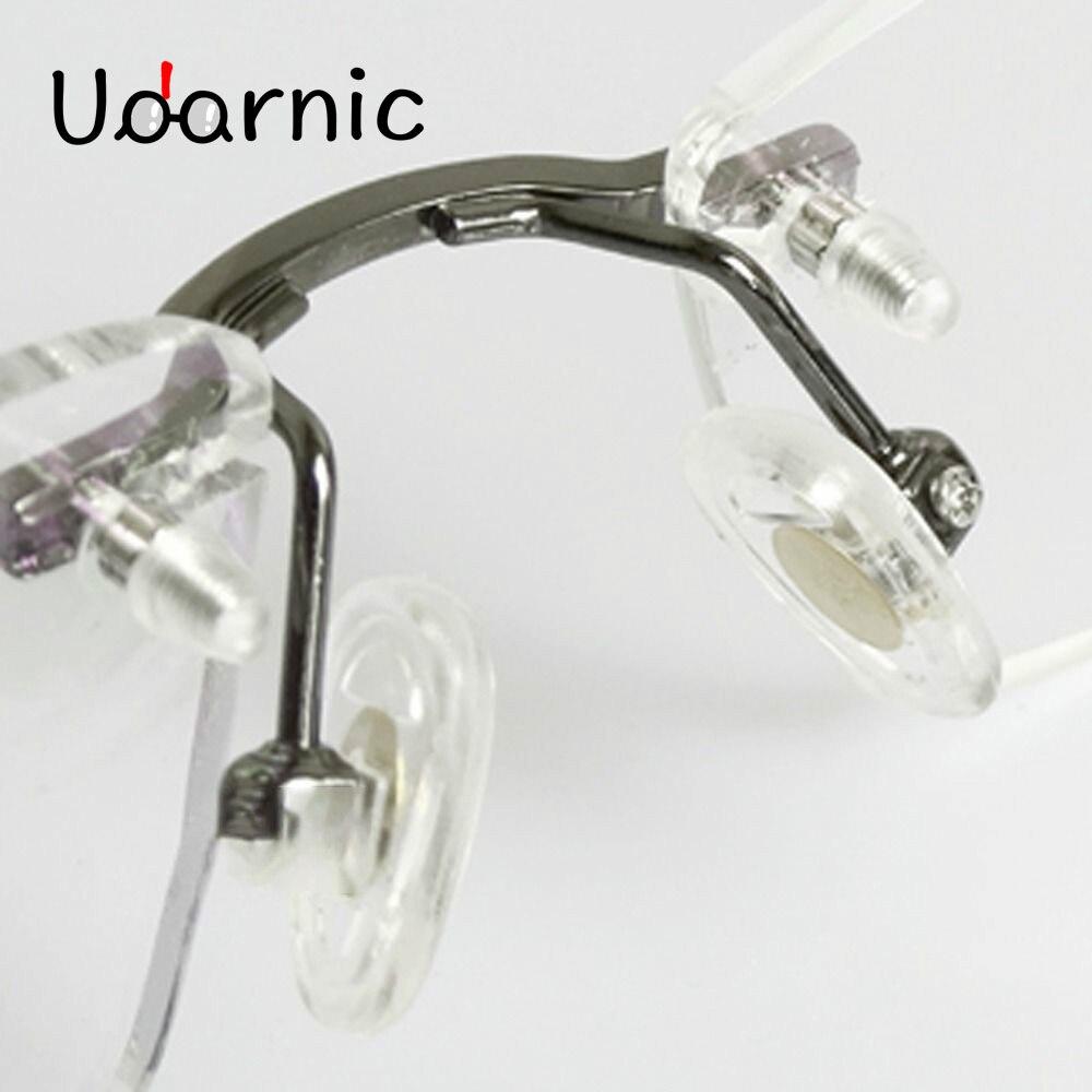 Reemplazo de la almohadilla de la nariz del puente del marco de Metal para las almohadillas de la nariz del silicón del tornillo negro púrpura de plata sin marco para las gafas 030- 918