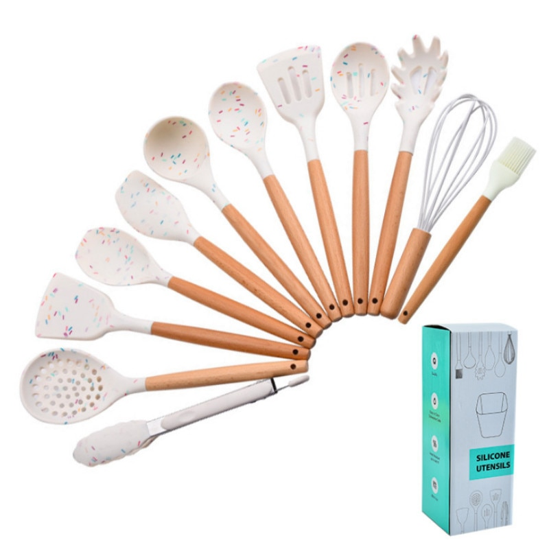 Silicone Kitchen Tools Spatula Turner brush egg beater Cooking Utensils  kitchen utensils set cooking tools ladle spoon