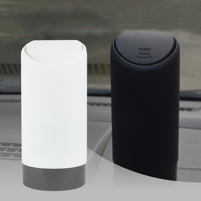 Taza de silicona para el coche, Cubo de almacenamiento de basura automático, cubo de basura, caja de almacenamiento para el baño de la cocina, contenedor de soporte para la basura del escritorio de la Oficina