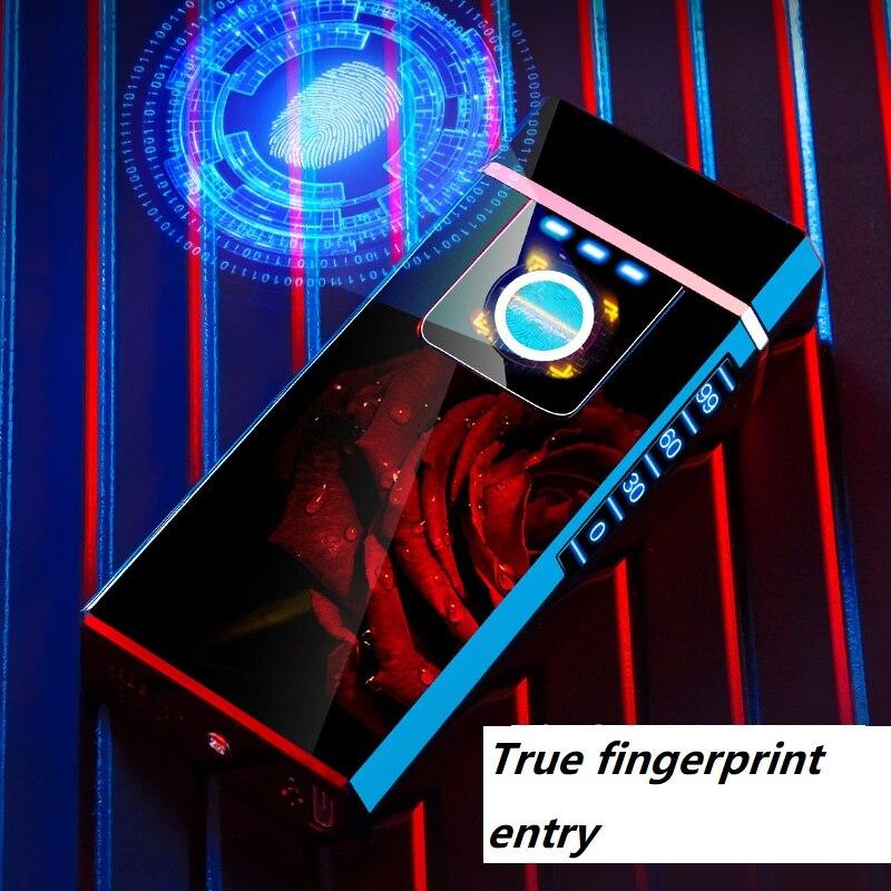 Paizhen fingerprint recognition lighter strong arc cigarette lighter for boyfriend to send for dad enlarge