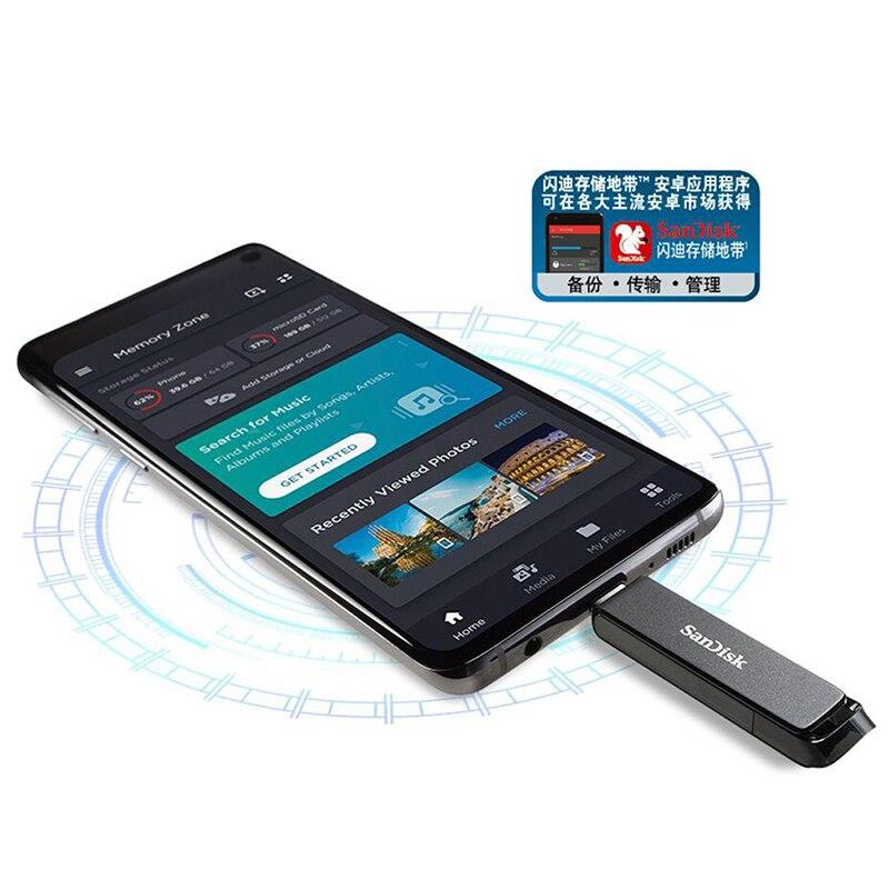 SanDisk USB Stick Type C OTG Pendrive Flash Memory USB 64GB Usb Flash Drive 32GB U 128GB Disk Usb 256GB Usb Memory Disco Pndriv enlarge