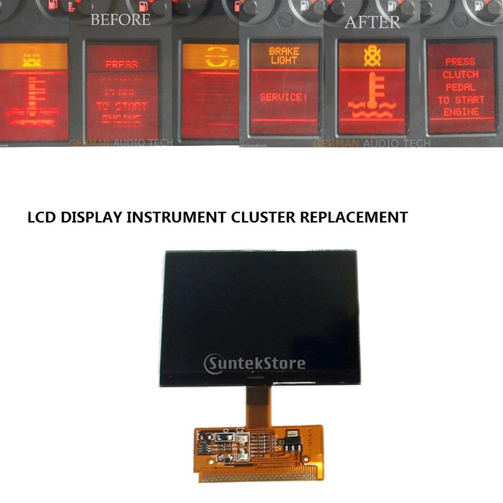1x ЖК-дисплей инструмент кластер спидометра экран для Audi A4 (B5) 1995-2001, A6 (C5) 1997-2004,VW Sharan 2000-2008