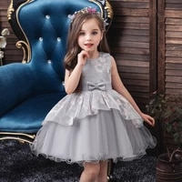 baby girl princess dress summer girls embroidered enfant birthday party dresses bow floral childrens puff cosplay costume 1 5y