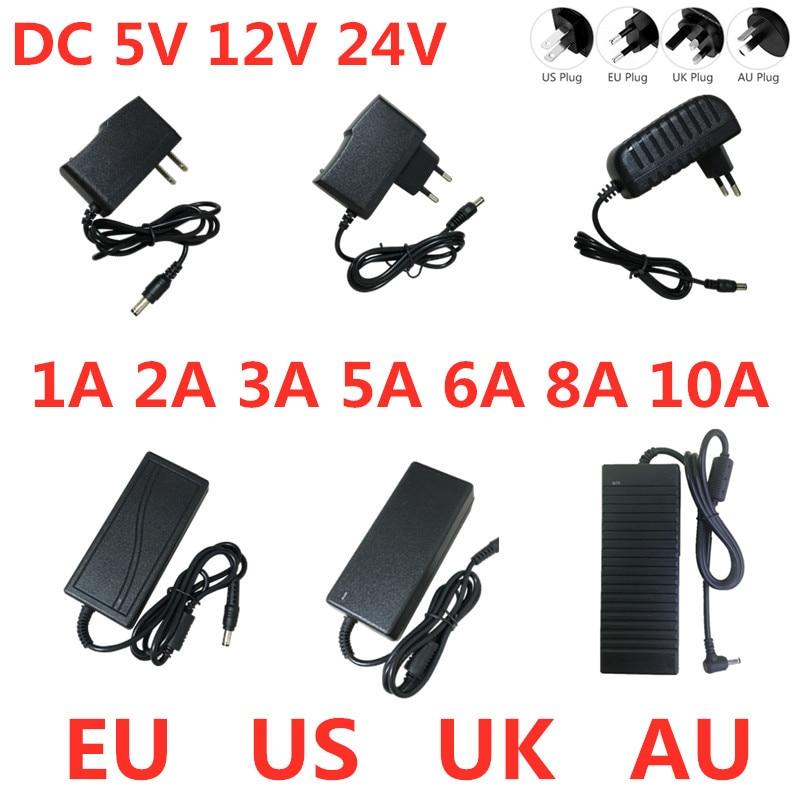 AC 100V-240V DC 5V 12V 24V Lighting Transformer 1A 2A 3A 5A 6A 8A 10A Power Supply Adapter Converter For LED Strips Light CCTV