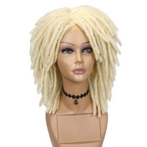 613 Blonde Dreadlock Wigs For Women Afro Crochet Twist Synthetic Hair Wigs Full Wig for Daily Wear