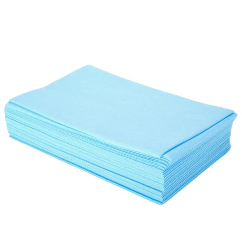 Juego de sábanas desechables gruesas de salón de belleza, sábanas para cama de masaje, 80x180cm, 100 unidades