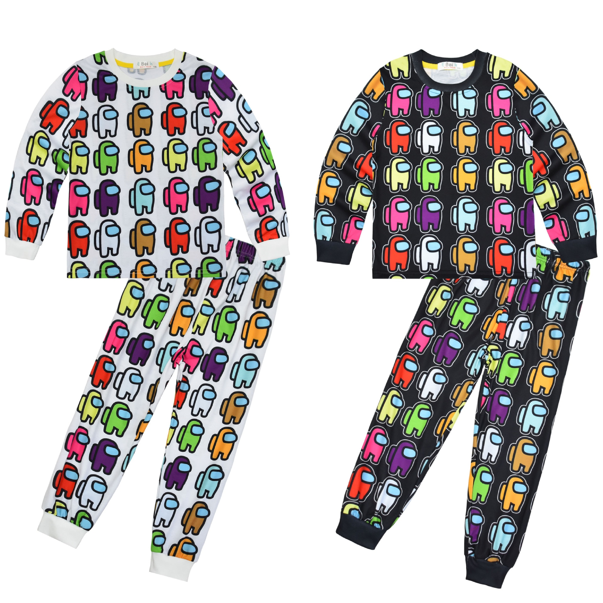 New among US childrens home wear set long sleeve Two Piece Pajamas fabric soft and comfortable pajamas for boys girls