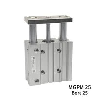 mgpm mgpm25 225z 250z mgpm25 300z mgpm25 350z mgpm25 400z three axisthin rod cylinder compact guide with stable pneumatic