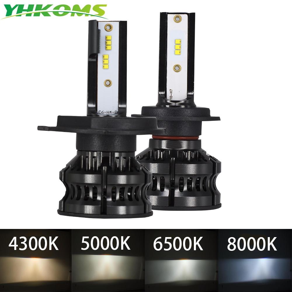aliexpress.com - YHKOMS New Design 80W 16000LM H4 LED H7 LED Car LED Headlight 4300K 5000K 8000K ZES CSP H8 H11 H1 9005 9006 Auto Fog Light 12V