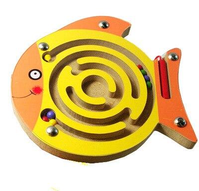 Juego de rompecabezas de madera para niños rompecabezas educativo temprano juguete de madera Animal laberinto magnético de juguete tablero rompecabezas de inteligencia para niños