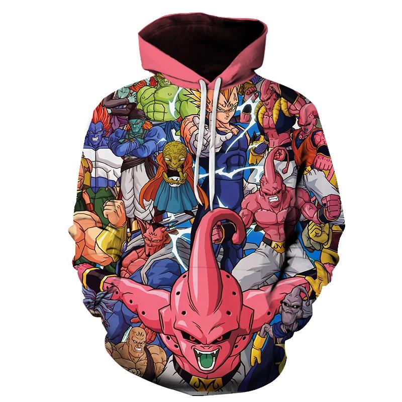 Japanese Anime DBZ 3D Printed Hoodies Men / Women Hooded Sweatshirts Dragon Ball Z Super Goku Plus Size Unisex Pullover S-6XL