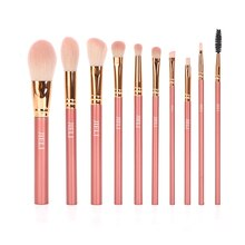 Professional Makeup Brushes Set 10PCS/lot Plastic Handle Make up Pincel Synthetic Hair Foundation/Po