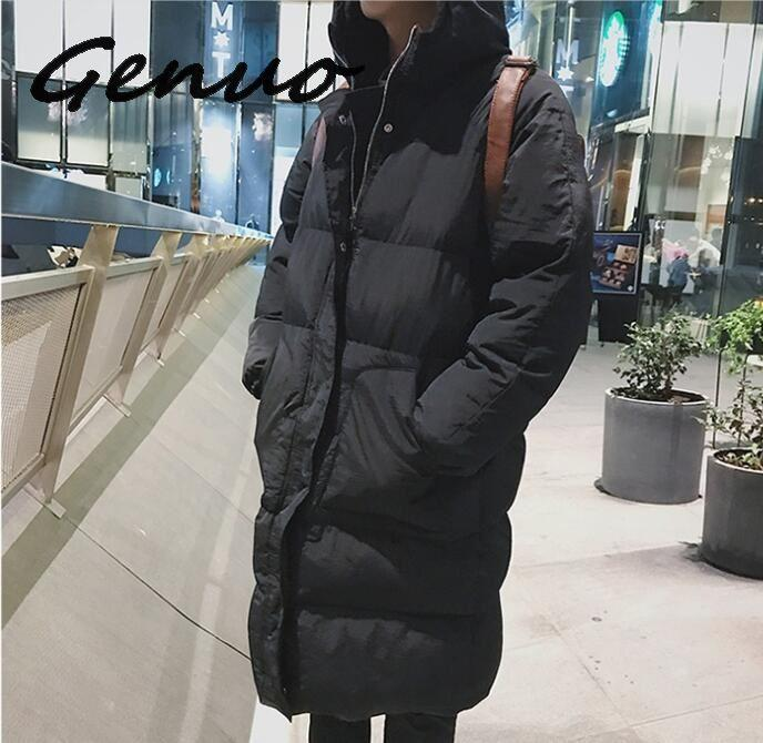 High Quality Winter Jacket Men Hooded Thicken Warm Parka Coat Casual Slim Mens Overcoat Long Slim Cotton Padded Jacket M-5XL