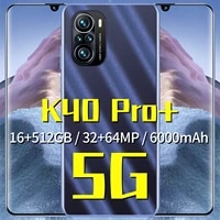 hot seling k40 pro mobile phone 6 7 inch android11 5g let smartphones 6000mah 16gb512gb mtk 6889 10 core dual sim cellphones