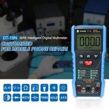 DT-19N ampèremètre haute précision Intelligent chiffre un multimètre Mini-automatique universel compteur pour la réparation de téléphone portable