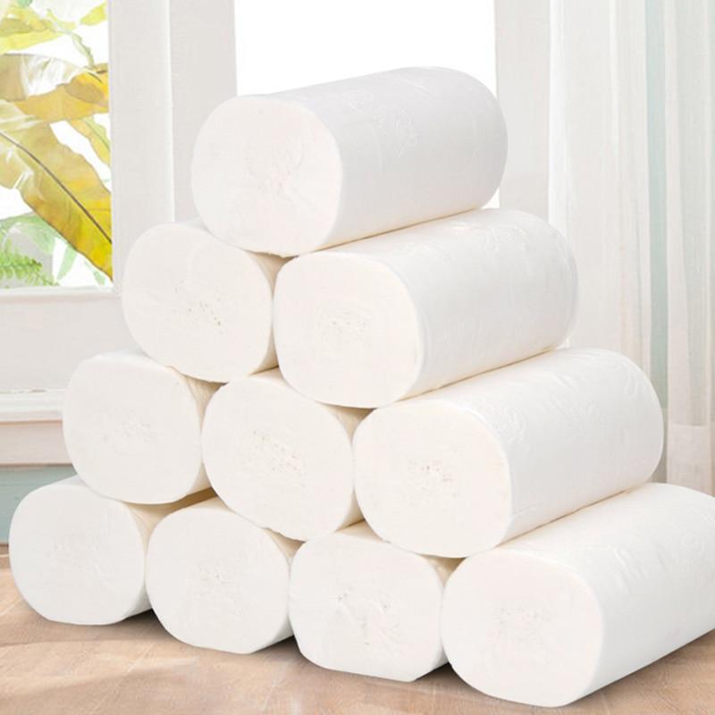 Рулонная упаковка из 10 бумажных туалетных рулонов для ванной, туалетной бумаги, белой туалетной бумаги, рулонных туалетных полотенец, ткани