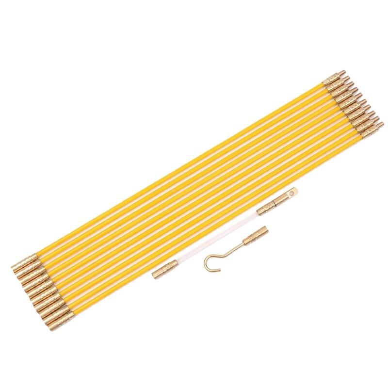 Fiberglas Laufenden Draht Kabel Koaxial Elektrische Fisch Band Pull Push-Kit