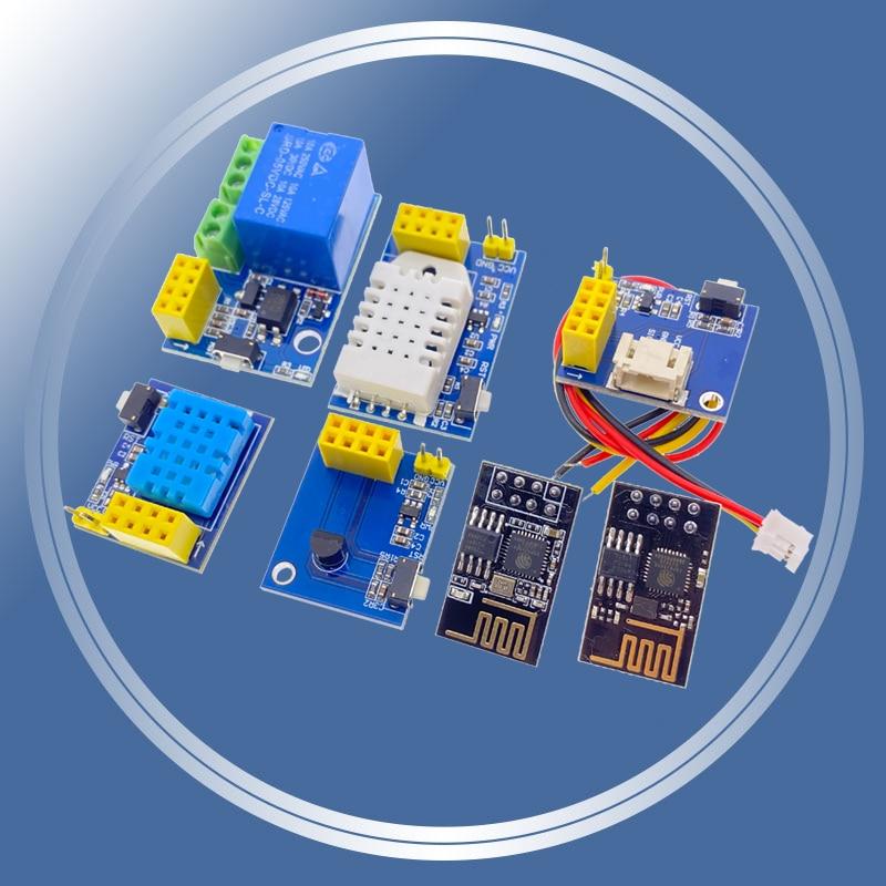 ESP8266 5V WiFi módulo de relé DS18B20 DHT11 DHT22 RGB LED controlador cosas inteligente control remoto en casa interruptor de control de aplicación de teléfono ESP-01S